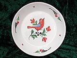 B/  Assiette calotte à l'oiseau rouge